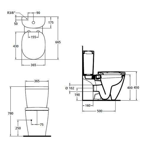 san ideal standard connect e803601 arc. Black Bedroom Furniture Sets. Home Design Ideas