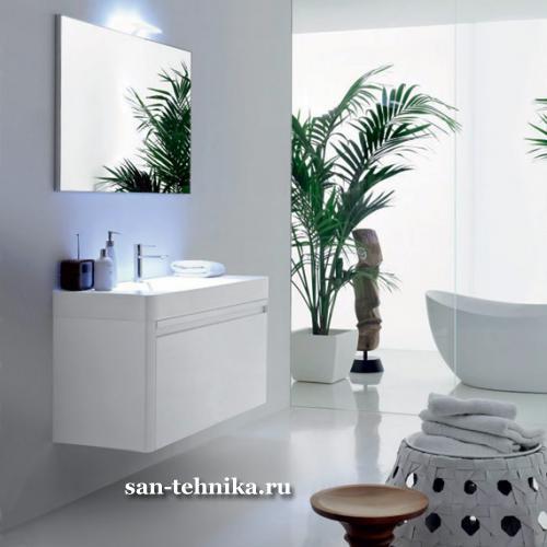 Комплект мебели для ванной Novello Sirio S12 Bianco Lucido/Venato