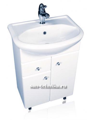 Вн МуБ03 - Умывальник на мебель Уют-550. Одно центральное отверстие под смеситель - Крепление - Обрамление